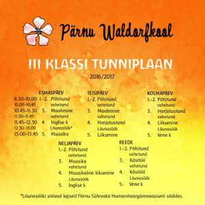 iiiklasssi-tunniplaan